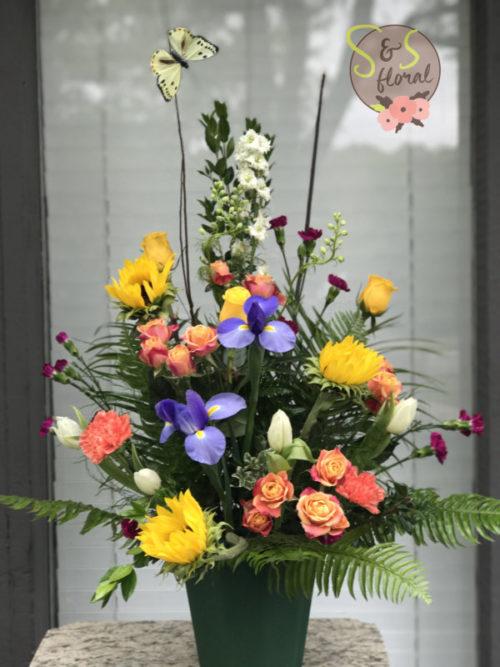 seasonal arrangement s and s floral kc